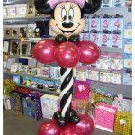 Coluna de Balões com Balão tema minnie no topo