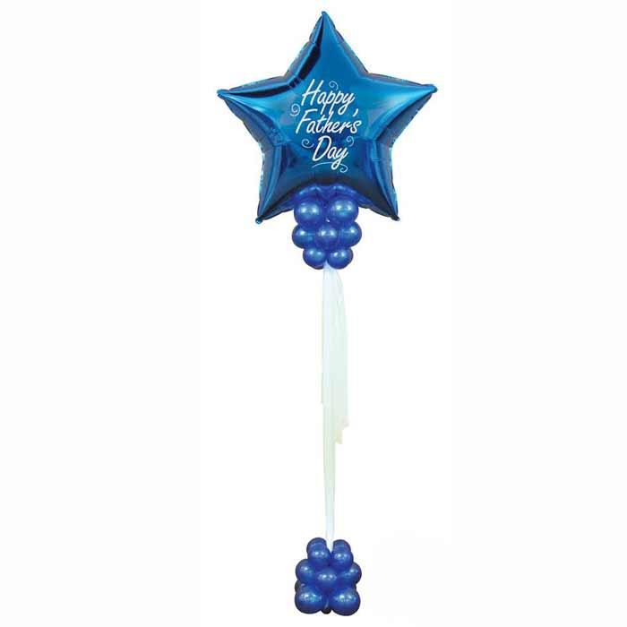 Centro de Mesa com 1 balão em estrela no topo.
