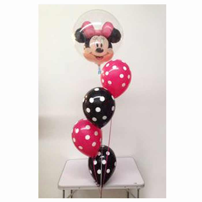 Centro de Mesa com 4 balões + 1 balão duplo com tema.