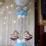 Coluna de Balões com Balões em forma de coração