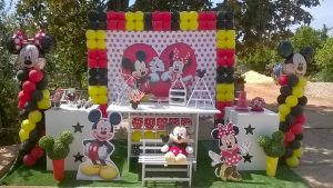 Decoração com Temas - Mickey e Minnie - Formiga Animada