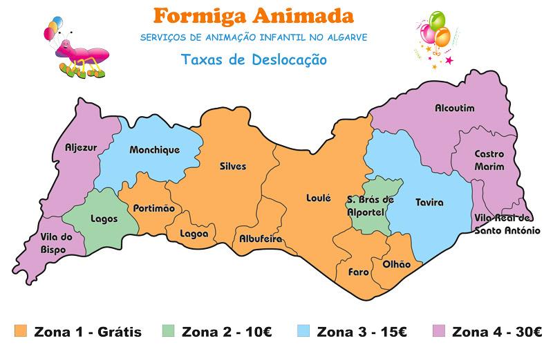 Formiga Animada - taxas de deslocação