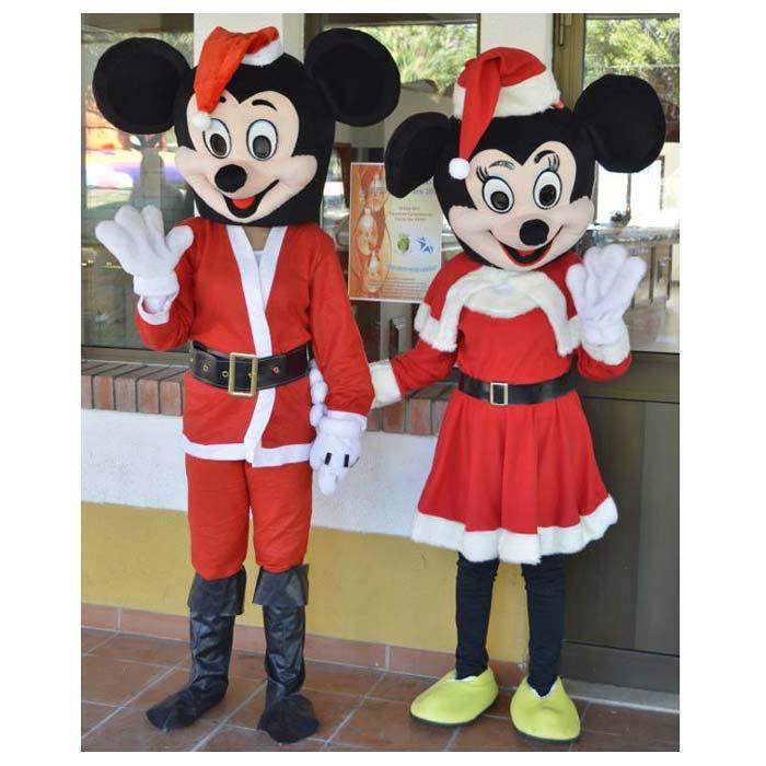 Mascotes Mickey e Minnie Festas de Natal Algarve