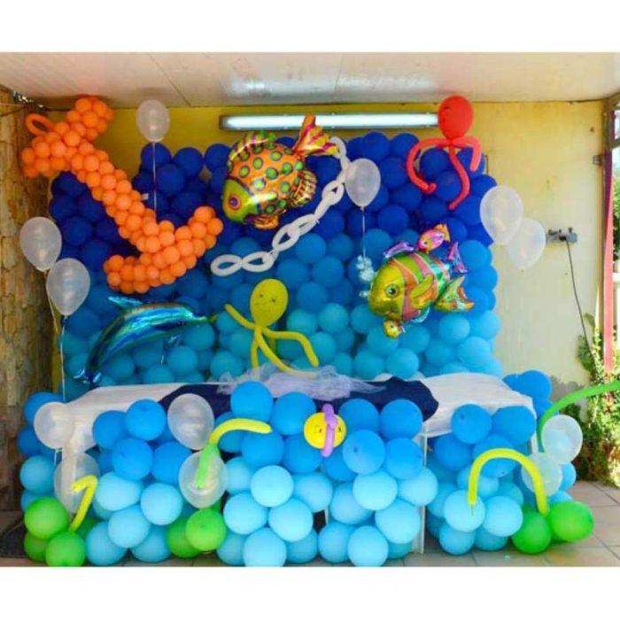 Decoração com Balões - Mural de Balões