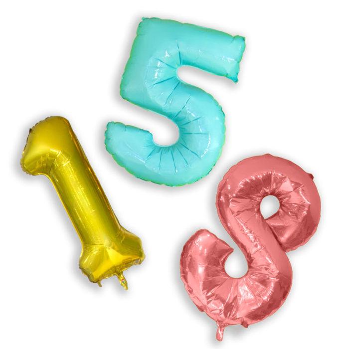 Balão e número