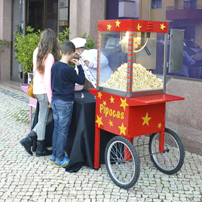 Carrinho de Pipocas, aluguer carrinho de pipocas Algarve, carrinho de pipocas para festas de aniversário Algarve, carrinho de pipocas para eventos algarve